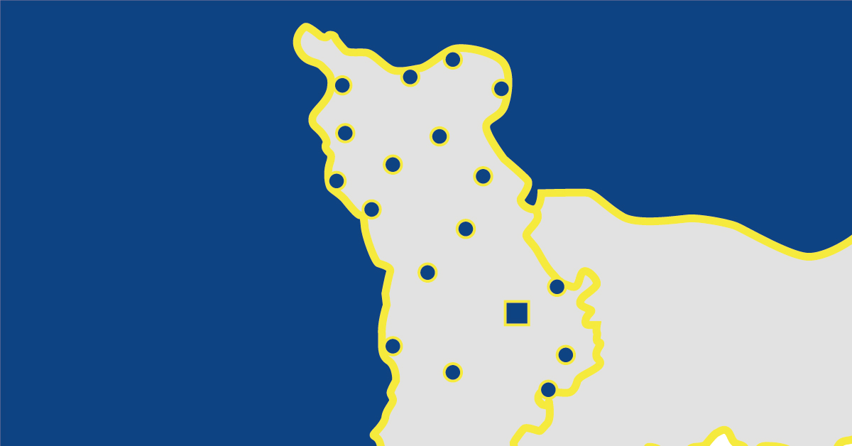 Carte départementale de La Manche en Normandie