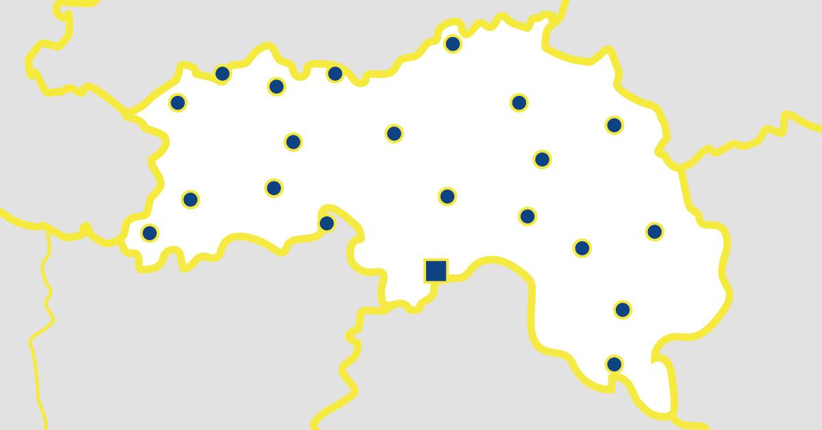 Carte départementale de l'Orne en Normandie